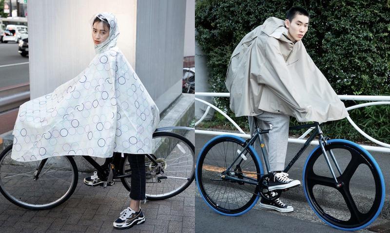 自転車 通学 雨